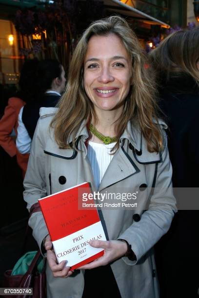 Laureate of the Price for 'Hadamar' Oriane Jeancourt Galignani attends 'La Closerie des Lilas' Literary Awards 2017 at La Closerie des Lilas on April...