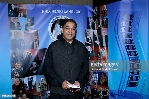 Laureate of the Price Henri Langlois Indian actor and director Kamal Haasan attends the '10th International meetings of the Heritage Cinema 2016...