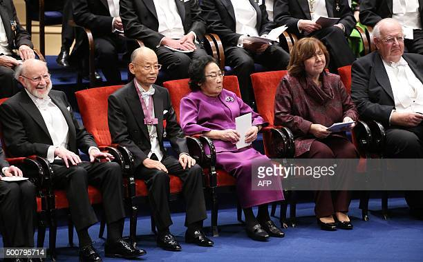 Laureates in the 2015 Nobel Prize in Physiology or Medicine Irish William C Campbell Japanese Satoshi Omura and Chinese Youyou Tu Nobel Literature...