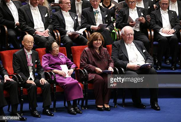 Laureates in the 2015 Nobel Prize in Physiology or Medicine Japanese Satoshi Omura and Chinese Youyou Tu Nobel Literature prize 2015 laureate Belarus...