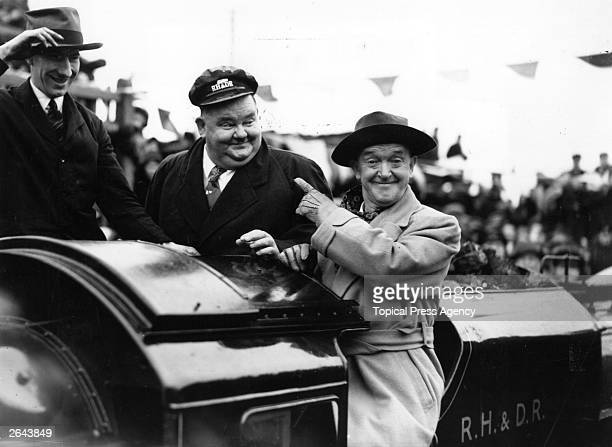 Laurel and Hardy drive the inaugural train on the New RomneyDungeness section of the line which had been closed since the start of the war during the...