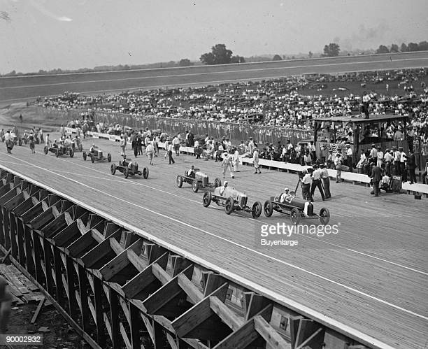 Laurel Automobile Race Cars speed around track in Laurel Maryland