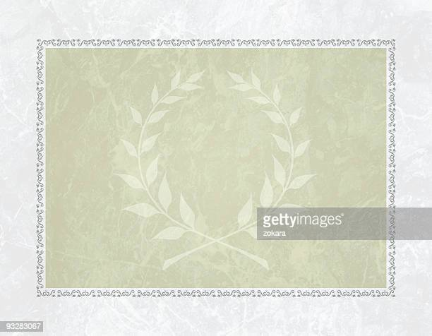 Laurel certificate background
