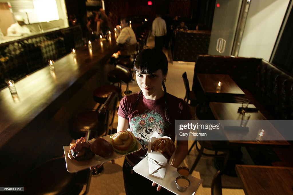 Laurel Hunziker is a waitress at 25 Degrees an upscale burger restaurant located in the Hollywood Roosevelt Hotel She holds the featured is the house...