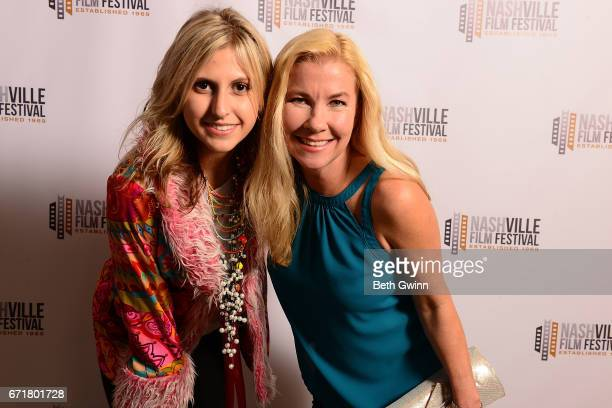 Laurel Muffett and Caroline Sawyer of the film Wild Man attend the Nashville Film Festival on April 22 2017 in Nashville Tennessee