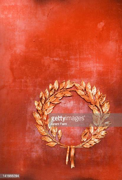 Laurel wreath on wall