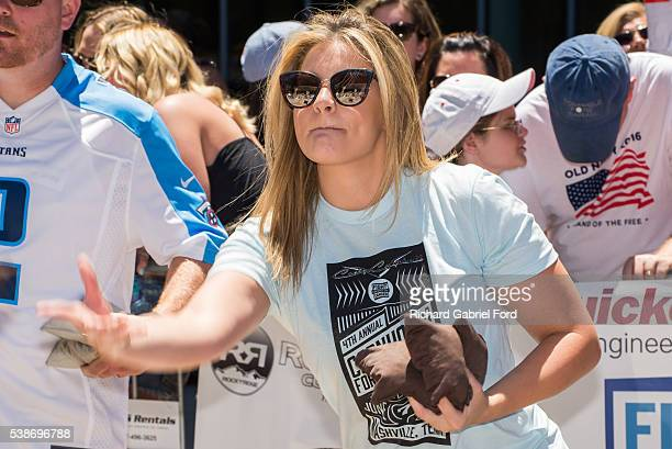 Lauren Alaina attends the Craig Campbell celebrity cornhole challange on June 7 2016 in Nashville Tennessee