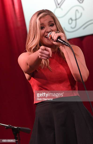 Lauren Alaina performs at 2015 'Next Women of Country' Event at City Winery Nashville on November 3 2015 in Nashville Tennessee