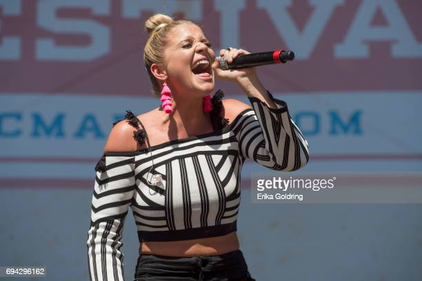 Lauren Alaina performs during the 2017 CMA Music Festival on June 9 2017 in Nashville Tennessee