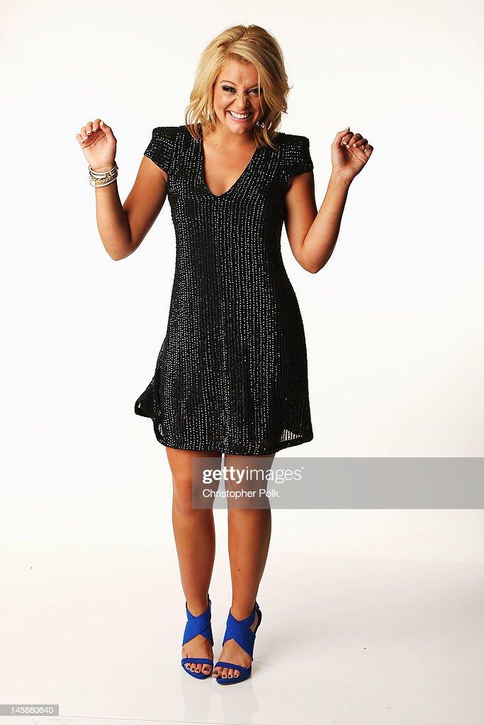 Lauren Alaina poses in the Wonderwall.com Portrait Studio during 2012 CMT Music awards at the Bridgestone Arena on June 6, 2012 in Nashville, Tennessee.
