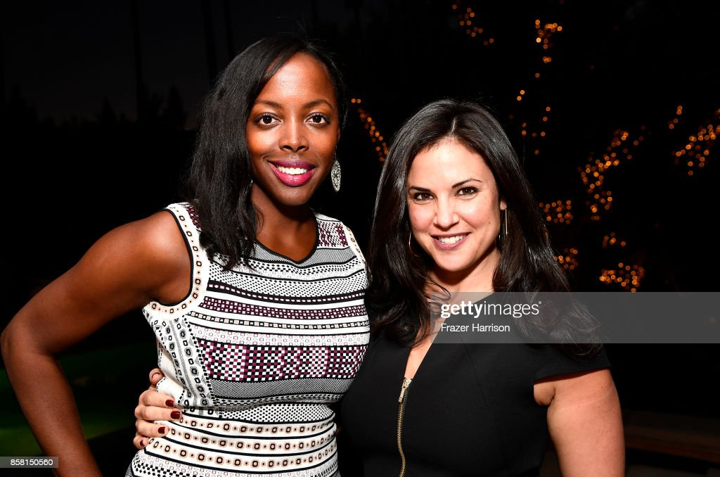Lauren Anderson; Rebecca Maul attend BBBSLA And The Hollywood Reporter's Women In Entertainment Mentor Reunion Cocktail Reception at Private Residence on October 5, 2017 in Los Angeles, California.