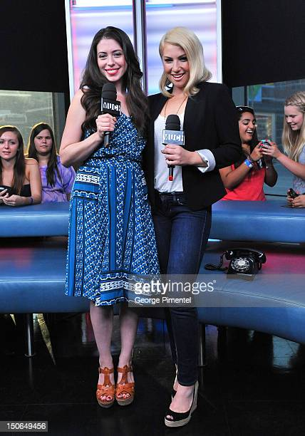 Lauren Anne Miller and Ari Graynor appear on NEWMUSICLIVE at MuchMusic Headquarters on August 23 2012 in Toronto Canada