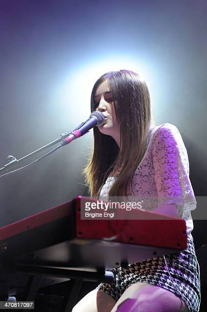 Lauren Aquilina performs on stage at O2 Islington Academy on February 20 2014 in London United Kingdom