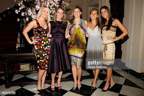 Lauren Armstrong Gillian Merns Alexandra Baker Jenny Carter and Kloe Korby attend CAROLINE ROWLEY Birthday Terez and Peter Rowley Anniversary Dinner...