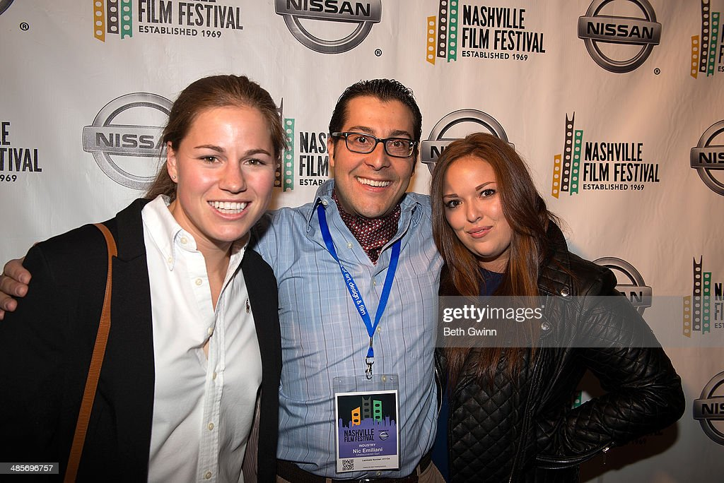 Lauren Avinoam, Nic Emiliani, and Lauren Hogarth of the film 'Undiscovered Gyrl' attend day 3 of the 2014 Nashville Film Festival at Regal Green Hills on April 19, 2014 in Nashville, Tennessee.