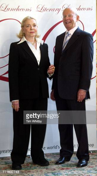 Lauren Bacall with author Wilbur Smith during Lauren Bacall and Author Wilbur Smith Attend a Foyles Literary Luncheon at Dorchester Hotel in London...