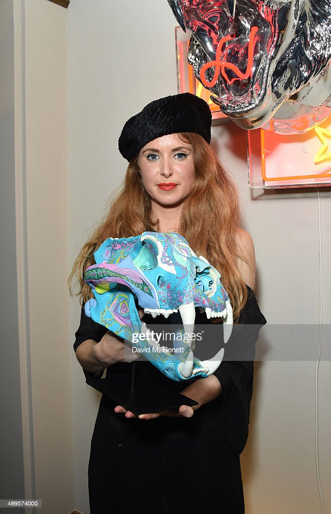 Lauren Baker attends The 'BE INSPIRED' art exhibition in aid of Save Wild Tigers, curated by Christian Furr at the Club at Cafe Royal from 22nd September until 8th October 2015 at Cafe Royal on September 22, 2015 in London, England.