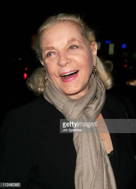 Lauren Becall during The Cinema Society Zenith Watches Host Screening of 'Flags of our Fathers' Outside Arrivals at Tribeca Grand Hotel Grand...