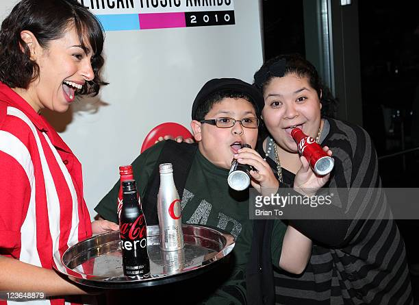 Lauren Birriel Rico Rodriguez and Raini Rodriguez attend 2010 American Music Awards preparty charity bowl tournament at Lucky Strike Lanes at LA Live...