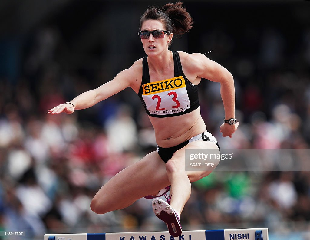 Lauren Boden of Australia competes in the womens 400m hurdles during the Seiko Golden Grand Prix In Kawasaki at Todoroki Stadium on May 6 2012 in...