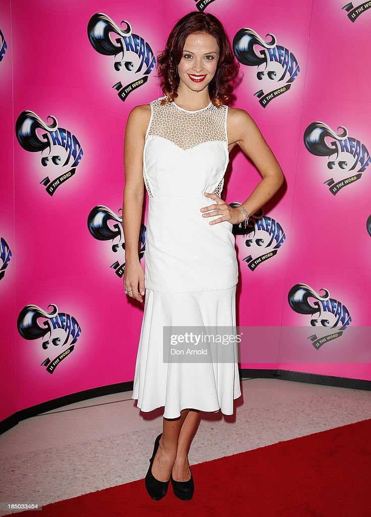 Lauren Brent arrives at the Sydney Premiere of GREASE at The Star on October 17, 2013 in Sydney, Australia.