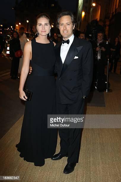 Lauren Bush and David Lauren arrive at a Ralph Lauren Collection Show and private dinner at Les BeauxArts de Paris on October 9 2013 in Paris France...
