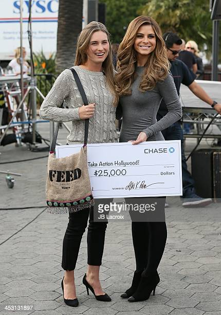 Lauren Bush and Maria Menounos are seen on December 2 2013 in Los Angeles California