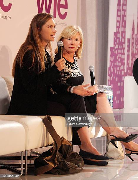 Lauren Bush and Sharon Bush attend day 1 of the 4th Annual WIE Symposium at Center 548 on September 20 2013 in New York City