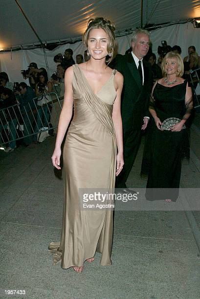 Lauren Bush arrives at the Metropolitan Museum of Art Costume Institute Benefit Gala sponsored by Gucci April 28 2003 at The Metropolitan Museum of...