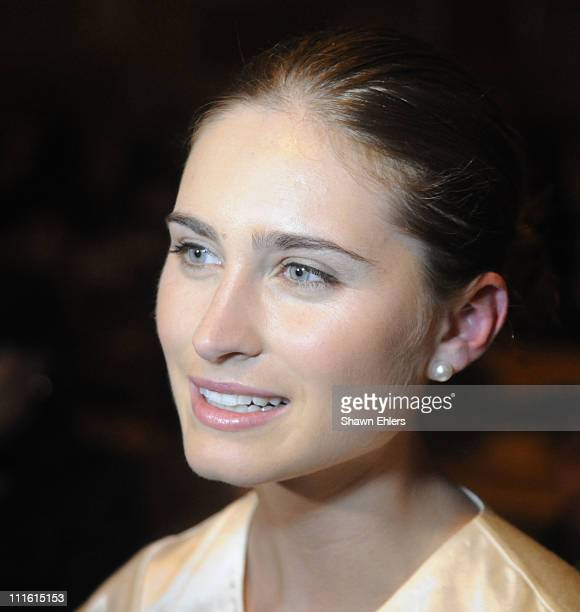 Lauren Bush attends Future Fashion Runway Show on January 31 2008 at Gotham Hall in New York City