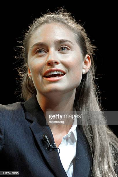 Lauren Bush chief executive officer and cofounder of FEED Projects LLC speaks at Bloomberg Link Empowered Entrepreneur Summit in New York US on...