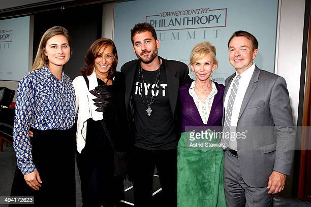 Lauren Bush Donna Karan Bryn Mooser Trudie Styler and Michael Clinton attend the Town Country Inaugural Philanthropy Summit at Hearst Tower on May 28...