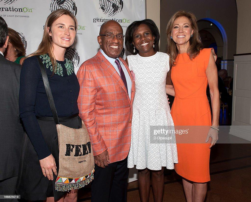 Lauren Bush Lauren Al Roker Deborah Roberts and Silda Wall Spitzer attend the 2013 Outstanding Leadership In Youth Service Benefit at 583 Park Avenue...
