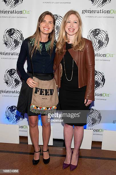 Lauren Bush Lauren and Chelsea Clinton attend the 2013 Outstanding Leadership In Youth Service Benefit at 583 Park Avenue on May 15 2013 in New York...