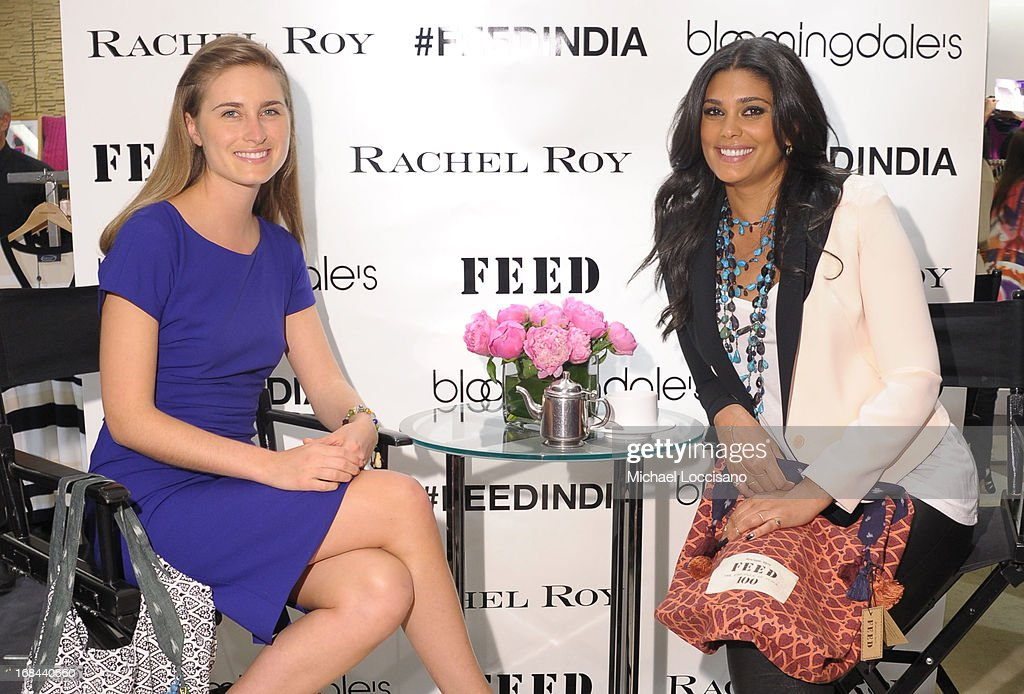 Lauren Bush Lauren and Rachel Roy speak as Roy debuts FEED India Collaboration with Lauren at Bloomingdale's 59th Street Store on May 9, 2013 in New York City.