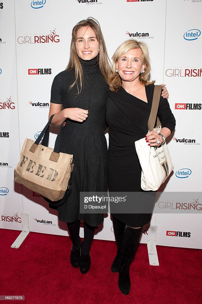 Lauren Bush Lauren (L) and Sharon Bush attend the 'Girl Rising' premiere at The Paris Theatre on March 6, 2013 in New York City.