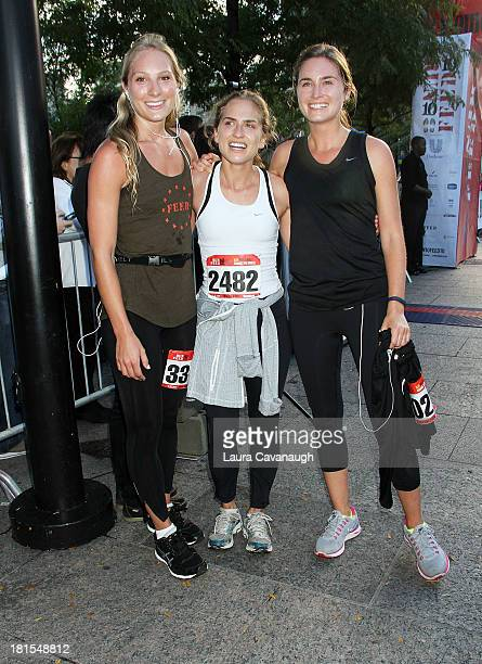Lauren Bush Lauren Ashley Bush and Emily Kenison attend RUN10 FEED10 In New York City at Pier 84 on September 22 2013 in New York City
