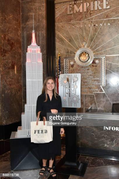 Lauren Bush Lauren Celebrates Run 10 Feed 10 At The Empire State Building on September 13 2017 in New York City