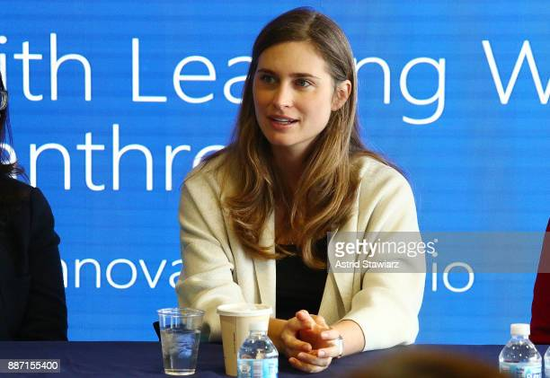 Lauren Bush Lauren CEO and Founder of FEED Projects discusses the importance of giving during the Visa University A Conversation with Leading Women...