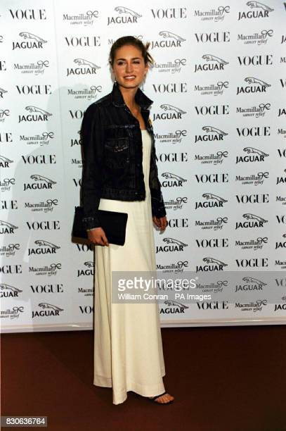 Lauren Bush the niece of US President George W Bush during the 'Its Fashion' charity gala dinner at Waddesdon Manor Buckinghamshire The dinner in aid...
