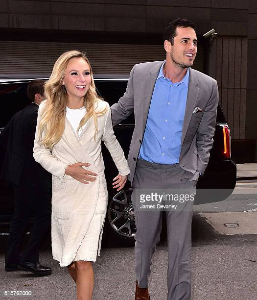 Lauren Bushnell and Ben Higgins seen on the streets of Manhattan on March 15 2016 in New York City