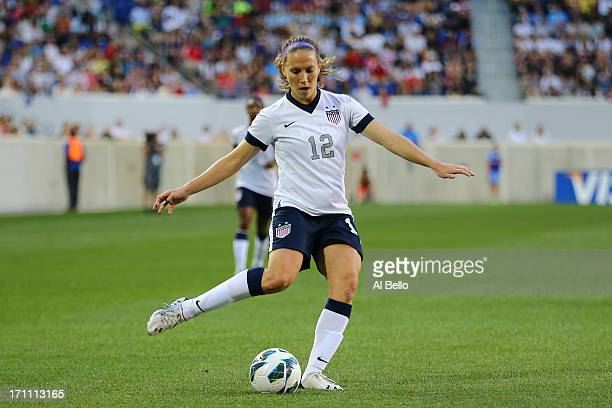 Lauren Cheney of the USA in action against Korea Republic during their game at Red Bull Arena on June 20 2013 in Harrison New Jersey