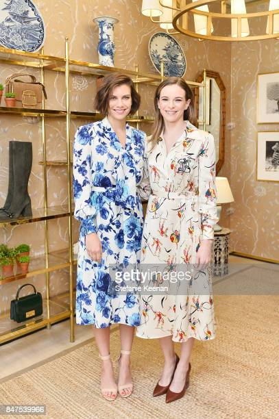 Lauren Cohan and Danielle Panabaker attend Glamour x Tory Burch Women To Watch Lunch on September 15 2017 in Beverly Hills California