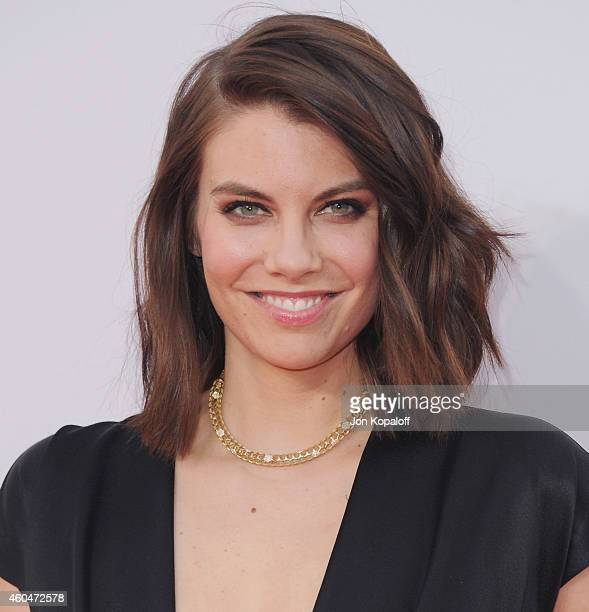 Lauren Cohan arrives at the 2014 American Music Awards at Nokia Theatre LA Live on November 23 2014 in Los Angeles California