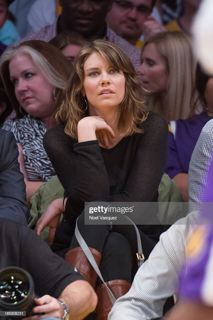 <a gi-track='captionPersonalityLinkClicked' href=/galleries/search?phrase=Lauren+Cohan&family=editorial&specificpeople=4421688 ng-click='$event.stopPropagation()'>Lauren Cohan</a> attends a basketball game between the Dallas Mavericks and the Los Angeles Lakers at Staples Center on April 2, 2013 in Los Angeles, California.