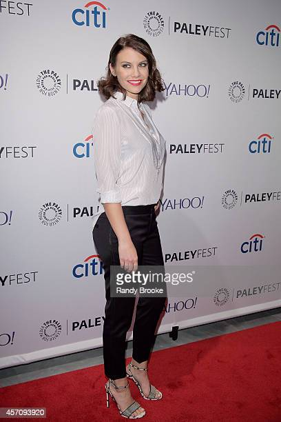 Lauren Cohan attends the 2nd Annual Paleyfest New York Presents 'The Walking Dead' at Paley Center For Media on October 11 2014 in New York New York
