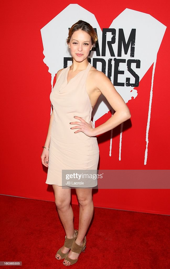 Lauren Cohan attends the 'Warm Bodies' premiere held at ArcLight Cinemas Cinerama Dome on January 29, 2013 in Hollywood, California.