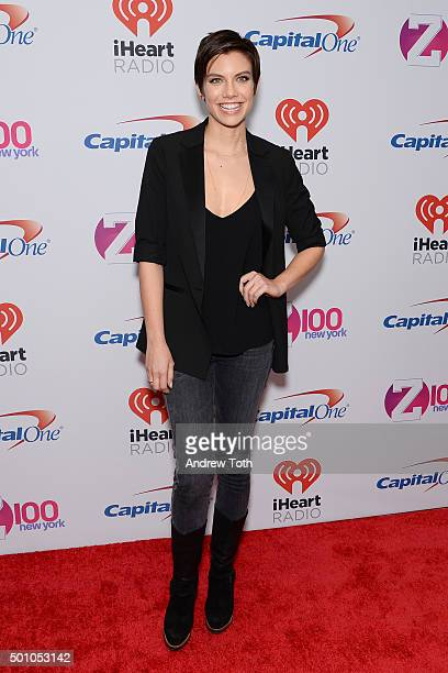 Lauren Cohan attends Z100's iHeartRadio Jingle Ball 2015 arrivals at Madison Square Garden on December 11 2015 in New York City
