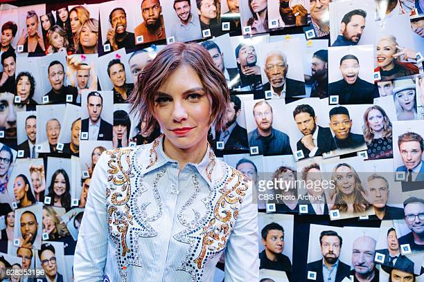 Lauren Cohan backstage during 'The Late Late Show with James Corden' Monday December 5 2016 On The CBS Television Network