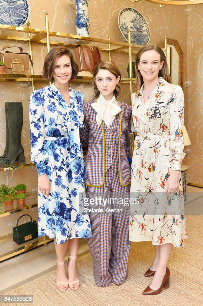 Lauren Cohan Natalia Dyer and Danielle Panabaker attend Glamour x Tory Burch Women To Watch Lunch on September 15 2017 in Beverly Hills California